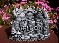 Welcome frogs concrete garden decoration Vancouver, V5X 3H2
