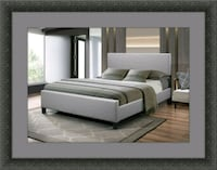 Grey platform bed with mattress Woodbridge, 22191