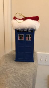 Police Public Call Box color changing christmas Ornament Raleigh, 27616
