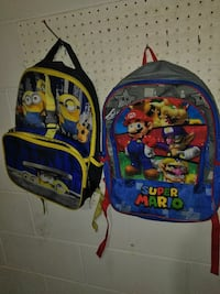 two Super Mario and Minion backpacks Sheldon, 51201