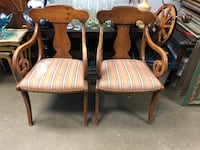 2 antique wooden chairs needs to be reupholstered  Toronto, M2R 3N1