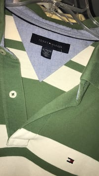 green and white button-up shirt Kettering, 45409