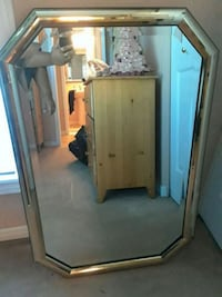 Gold plated framed mirror (negotiable) Russell, K4R 1C6