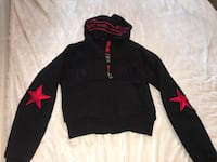 black and red Under Armour pullover hoodie Surrey, V3S 4R6