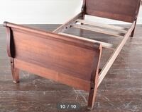 (2) Antique Cherry Stained Sleigh Beds 238 mi