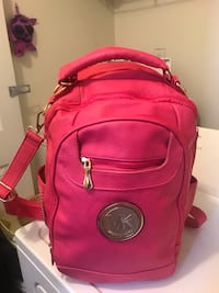 red Michael Kors leather backpack Austell, 30168