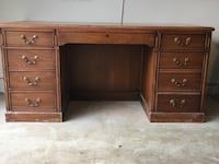 brown wooden double pedestal desk Leesburg, 20176