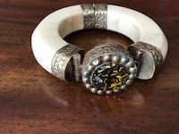 Brass and plastic? Bangle, pin closure Sierra Vista