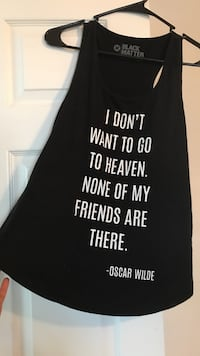 Oscar Wilde quote black tank top by Black Matter