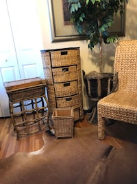 6piece Wicker Rattan Small Office Set Rockville, 20850