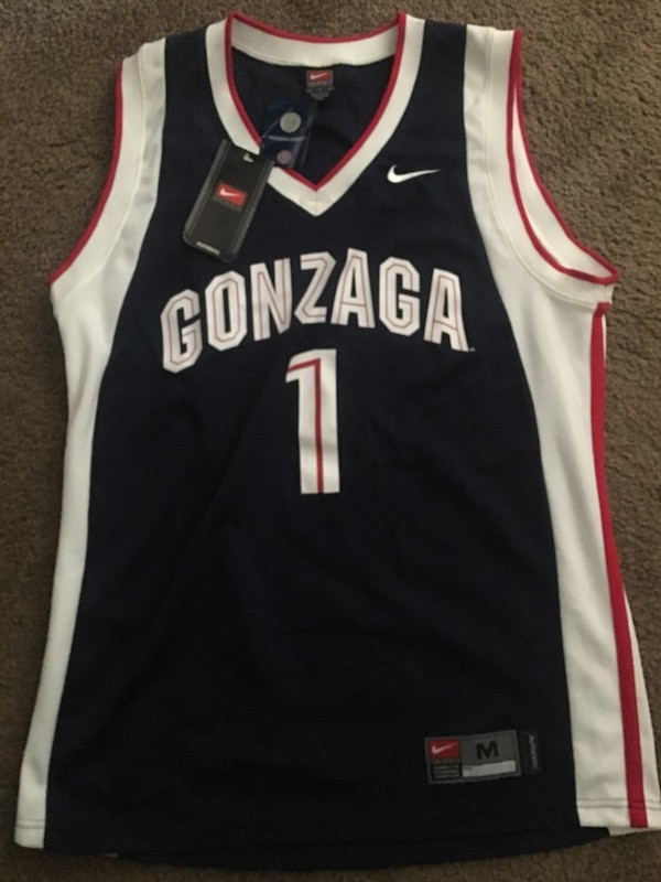 the latest 73f73 c0bdd Vintage Gonzaga Bulldogs Basketball Jersey #1 Men's M NCAA Navy Nike team