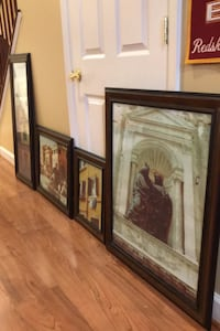 Frames, 4, walnut stain, matching Frederick, 21704