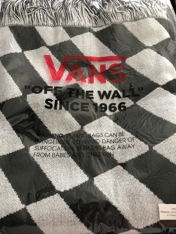 93f105fc0e Used White and black checkerboard vans off the wall blanket for sale in  Ephrata - letgo