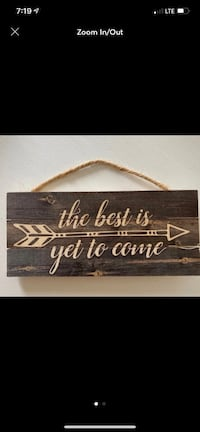 Wooden Quote Hanging Sign