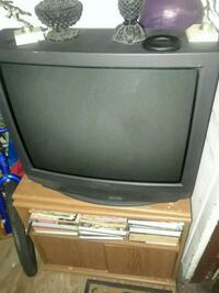 gray CRT television with remote Saint Petersburg, 33712