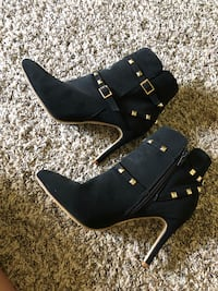 Ankle boots woman's high heel boots black/gold size 7.5 brand new 坦佩, 85282