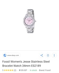 Fossil pink face watch  Surrey, V3X 1P3