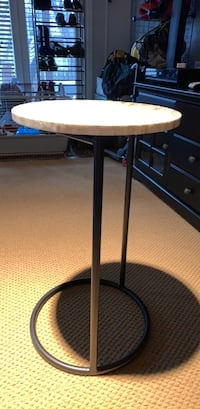 """End table with mother of pearl table. 26"""" high, 15"""" diameter   Alexandria, 22310"""