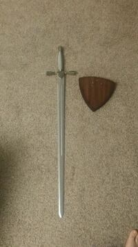 Knights sword and wall plaque. Knoxville