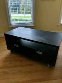 black wooden 2-drawer chest 19 km