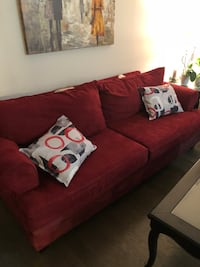 Red fabric 3-seat sofa Montréal, H8Z 3B1