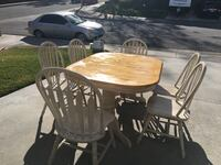 Dinning table with 6 chairs 60 inch long 41 wide expands 84 2277 mi