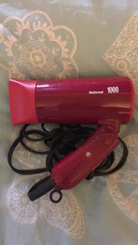 red National 1000 folding hair dryer Burlingame