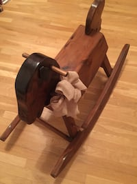Wooden Rocking Horse Made in Vermont VINTAGE