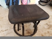 black leather padded rolling chair Edmonton, T5V 1T8