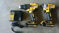 Dewalt 20V drill impact 2 batteries 1 charger. NEW Charlotte, 28216