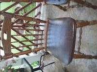 OAK WOOD CHAIRS W/ LEATHER SEAT Oklahoma City