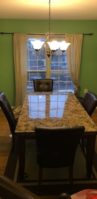 Marble Dining Table and 4 chairs