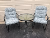 Outdoor chairs and table. Purcellville, 20132