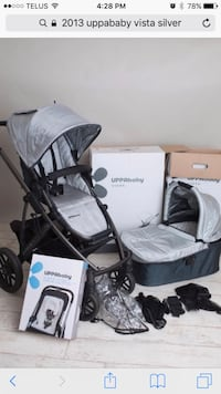 2013 Uppavista stroller silver/grey complete system with Peg Perego adapter 561 km