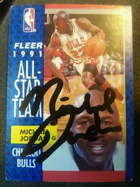Michael Jordan signed card  Charleston, 25387