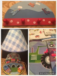 Trains planes trucks bedding set with lamp and hook Brampton, L6Z 3P5