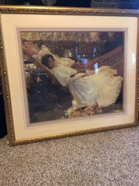 brown wooden framed painting of woman Baltimore, 21234