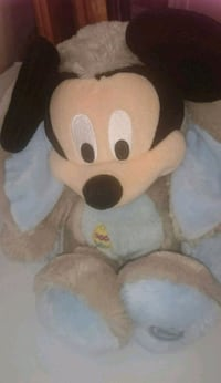 Disney mickey mouse easter bunny plush soft toy  5661 km