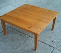 #8984 Knotty Pine 3' Square Coffee Table