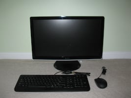 "Dell 21"" widescreen color monitor, keyboard and mouse"
