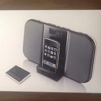 Portable iPod or iPhone docking audio system