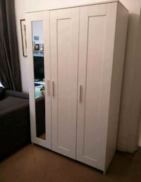 white wooden wardrobe with mirror Victoria, V9A 7M6