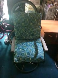green and white floral padded armchair Chester, 29706