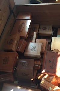 Lot of 50+ Wooden Cigar Boxes (Empty/Used)