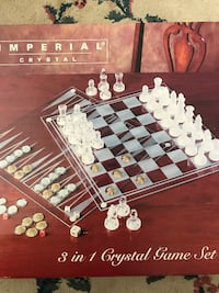 Chess set- Crystal 3 in 1 game set