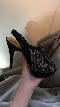 Black and brownn guess high heels