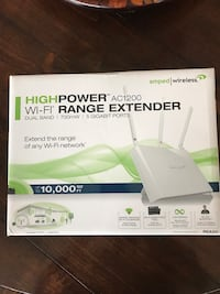 Amped wireless AC1200 REA20 high power WiFi range extender Newfoundland, 07435