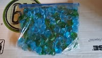 Decorative glass beads for vases( blue and green) Winchester, 22601