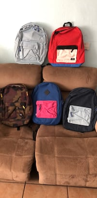 Four assorted color backpack and bag Compton, 90222