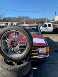 """22"""" inch rims and tires for sale AND PARTS TRUCK"""